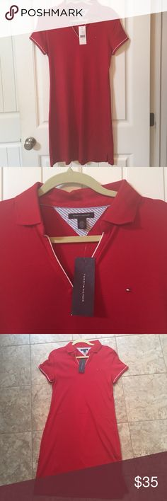 Tommy Hilfiger polo shirt dress New with tags Tommy Hilfiger polo shirt knee length dress Tommy Hilfiger Dresses Midi