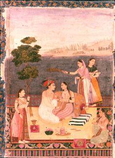 Dara Shikoh with his consort Mughal Miniature Paintings, Mughal Paintings, Dara Shikoh, Colonial India, Magic Carpet, Persian, Book Art, Miniatures, Indian