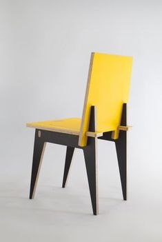 Mondrian meets chair. But imagine it with various grains and textures of recycled wood