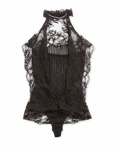 Hmm, add to shopping cart?:Baronessa Lace Halter Bodysuit, Black by La Perla at Neiman Marcus Last Call. #midnightbuzzedshopping