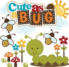 Cute As A Bug-Boy - SVG files for scrapbooking