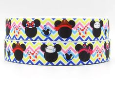 BTY Mickey Minnie Printed Disney Cruise 7/8 Inch Chevron Grosgrain Ribbon Great For Fish Extenders Hair Bows Scrapbooking Lanyards Lisa by HappinessByTheYard on Etsy https://www.etsy.com/listing/288265563/bty-mickey-minnie-printed-disney-cruise