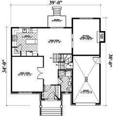 This split level home plan is a very flexible design. It offers you both the option of a family room with fireplace on the main floor and a home theater above the garage.Related Plan: For an alternate version, see house plan Monster House Plans, Level Homes, Car Garage, Home Theater, Flexibility, Family Room, Sweet Home, Floor Plans, European House