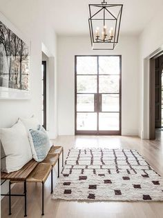 pattern rug and wood