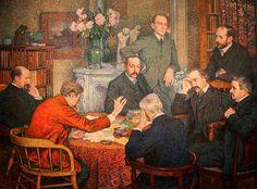 A reunião [A reunião literária], 1903 Théo Van Rysselberghe (Bélgica, 1862-1926) óleo sobre tela Museum voor Schone Kunsten – Ghent, Bélgica