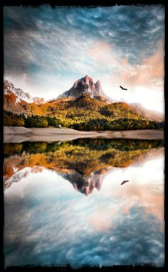 #reflection #landscape Reflection Photography, Unique Image, Abstract Images, Mountains, Landscape, Water, Travel, Beautiful, Art