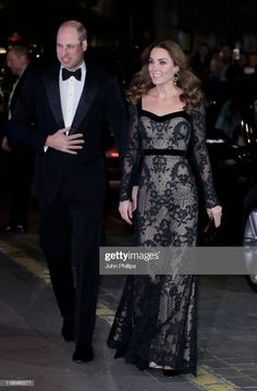 Prince William, Duke of Cambridge and Catherine, Duchess of Cambridge attend the Royal Variety Performance at the Palladium Theatre on November 2019 in London, England. Get premium, high resolution news photos at Getty Images Duchess Kate, Duke And Duchess, Nice Dresses, Prom Dresses, Formal Dresses, Kate Middleton Pictures, Catherine The Great, House Of Windsor, Duke Of Cambridge