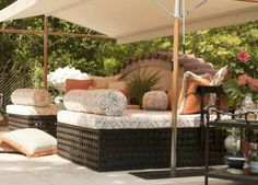 Create a spacious, shaded oasis for seating or dining with our Papillon Shade.  | Atlanta Symphony Orchestra Show House 2014