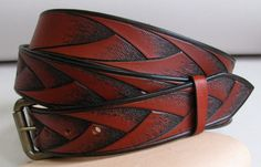 Leather Belt  british tan barley by sunburstcrafts on Etsy, $70.00