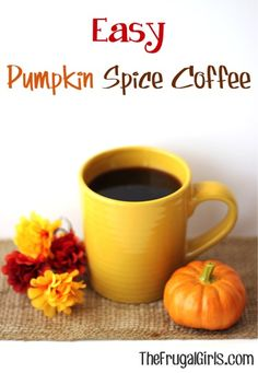 Easy Pumpkin Spice Coffee! ~ from TheFrugalGirls.com ~ this simple little trick makes delicious Homemade Pumpkin Spice Coffee! Yum! #thefrugalgirls