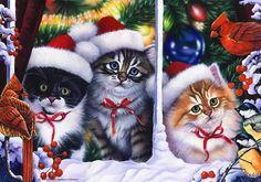 Cats in Window - Jenny Newland