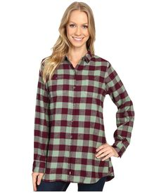 Woolrich flannel Buffalo Check Boyfriend Shirt. Ring in Fall with Woolrich