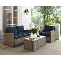 3-Piece Biltmore Rattan Seating Group