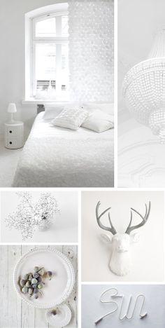 WHITE IS WHITE� El blanco. Su pureza, frescura y elegancia… es uno de mis colores preferidos para los interiores y el que a mi parecer da más juego a la hora de crear un espacio