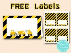 free construction party food labels-table-labels-tent-labels tlc20