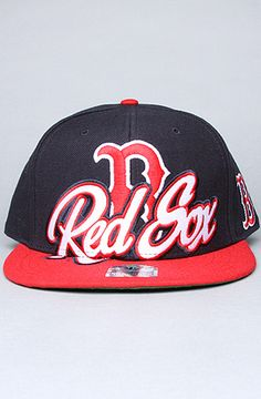 The Red Sox Slam Dunk Snapback in Navy & Red
