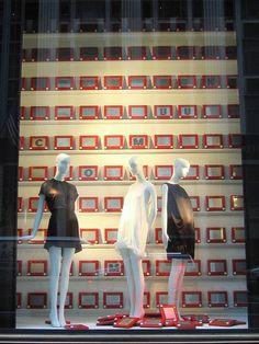 etch-a-sketch bergdorf goodman window display / platinumblondelife Signage Display, Retail Signage, Retail Windows, Store Windows, Ad Design, Store Design, Display Design, Store Window Displays, Visual Display