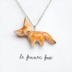 FENNEC FOX NECKLACE!!! Aieeeeee!!!!!