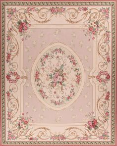 Chambery Rose Aubusson Rug is inspired by the romantic paintings of Jean Honoré Fragonard Rug Design © Asmara, Inc. Estilo Shabby Chic, Shabby Chic Pink, Shabby Chic Bedrooms, Shabby Chic Decor, Shabby Chic Area Rugs, Orange Carpet, Aubusson Rugs, Estilo Retro, Pink Rug