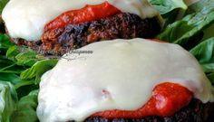 Chunky Portabella Parmesan Veggie Burgers