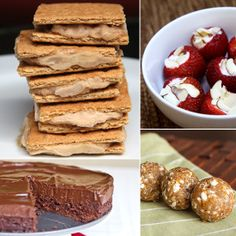 Smudgies - bananas/peanut butter, spread on graham crackers and freeze!  Keep Cool This Summer: Healthy No-Bake Desserts