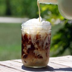 The best iced coffee recipe, and it keeps in the refrigerator for up to a month!