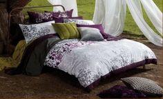 Enchanted ~ KING Duvet Cover ~ Embroidered Purple & Grey Floral Silhouette KAS http://www.amazon.com/dp/B00EDYZ5PO/ref=cm_sw_r_pi_dp_iOcxvb0CYBCKH