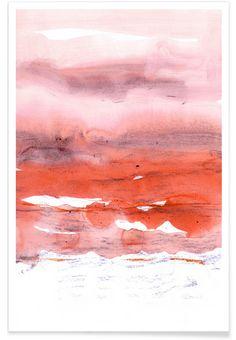 Pink and Modern Orange als Premium Poster von Iris Lehnhardt | JUNIQE
