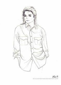 [MJ] by Alex-Panther on DeviantArt Michael Jackson Wallpaper, Michael Jackson Kunst, Michael Jackson Drawings, Michael Jackson Pics, Pencil Art Drawings, Easy Drawings, Art Sketches, Michael Art, Michael Love