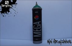 Mtn Mega  SPRAYZINHOS GRINGOS E NACIONAL DE 7cm E 5 cm - MAIS DE 60 MARCAS. IMPRESSÃO: COUCHÊ FOSCO  Sprayzinhos 5,00 R$ a unidade... Quantidade mínima 20 unidades...  OBS: Com esferas dentro que produz o som real da grande...  Pedidos: serginho.atittudecrista@gmail.com