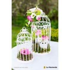 Buy La Hacienda 2 Vintage White Bird Cages Garden Ornaments at Argos.co.uk - Your Online Shop for Garden ornaments and lanterns, Garden decoration and landscaping, Limited stock Home and garden.