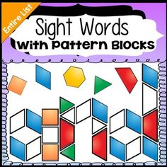 Sight Words Dolch Sight Word List, Sight Words List, Sight Word Activities, Learning Activities, Teaching Ideas, Kindergarten Centers, Kindergarten Reading, 3 Letter Words, Word Work Stations