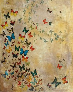 "Saatchi Art Artist: Lily Greenwood; Acrylic 2007 Painting ""SOLD Summer Butterflies"""