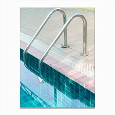 Get the vintage look with this retro swimming pool stairs photography print by Honeymoon Hotel.Size: print - 48 x Material: acid free archival paper with a small white border Frame: Acrylic and wood Blue Aesthetic, Aesthetic Vintage, Pool Fotografie, Swimming Pool Photography, Hana, Canvas Artwork, Canvas Prints, Canvas Canvas, Sightseeing London