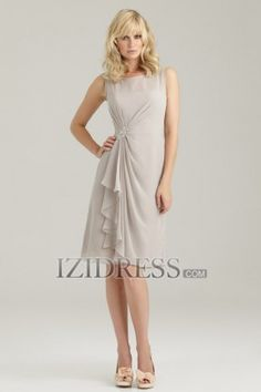 Sheath/Column Straps Chiffon Bridesmaids Dress - IZIDRESS.com at IZIDRESS.com