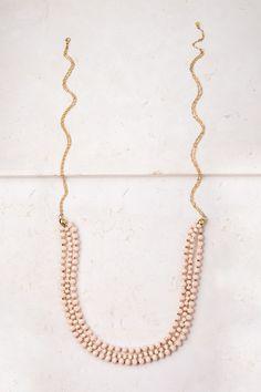 Daisy; Peach Multi-Strand Necklace