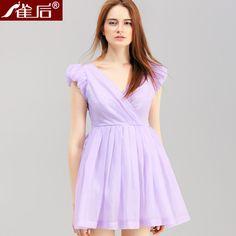 雀后[LQ8055]2014夏季新款深V领性感修身显瘦收腰连衣裙-tmall.com天猫