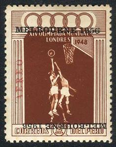 Yvert 117, 1956 Melbourne Olympic Games 2S. basketball with DOUBLE OVERPRINT variety, ONE INVERTED, mint without gum, very rare!    Dealer  Guillermo Jalil-Philatino    Auction  Minimum Bid:  200.00 US$
