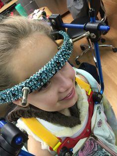 Chloe's halo, decorated by Sondra Celli