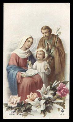 "santino-holy card""""ediz. FB serie G n.39 SACRA FAMIGLIA"