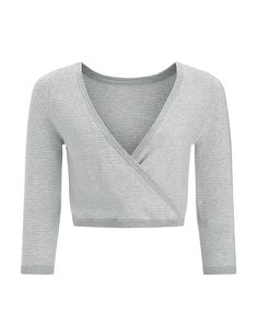 Contemporary Dance Crop - LightGrey | long sleeved tops | Sweaty Betty