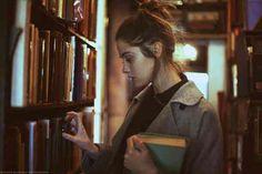 She's a total book nerd.