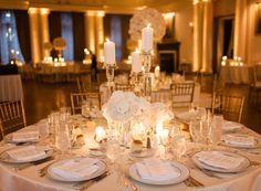 Yale Club Ballroom Wedding Reception Table Arrangements