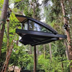 Designer and builder Dustin Feider started O2 Treehouse in 2005 with the mission to inspire people to create unique living structures that can harmlessly co-exist with nature. #treehouse Forest Floor, Forest House, Gazebo, Pergola, Tree House Designs, Home Repair, Tiny House, Around The Worlds
