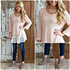 LUV this top with booties
