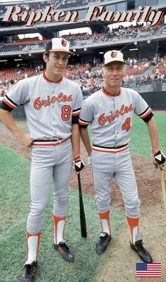 0beb4c5bdc8 and father coach Cal Ripken Sr. with the Baltimore Orioles