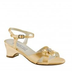 TINA-154 Flower Girl Low-heel Sandals - Gold