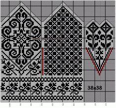 Bilderesultat for fair isle mittens pattern free Knitted Mittens Pattern, Fair Isle Knitting Patterns, Crochet Mittens, Knitting Charts, Filet Crochet, Knitting Stitches, Knitting Socks, Knitting Needles, Free Knitting