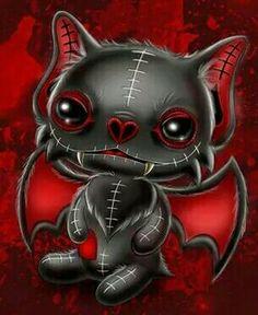 Bats Emo Kunst, Gothic Kunst, Voodoo Doll Tattoo, Voodoo Dolls, Gothic Fantasy Art, Fantasy Kunst, Emo Art, Goth Art, Gothic Drawings
