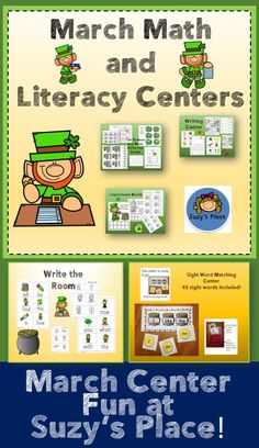 March learning centers are fun with these math and literacy activities!